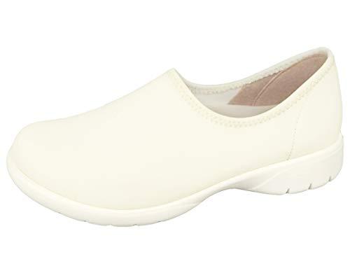 [リゲッタ] スリッポン 靴 モック ナース シューズ ワーク 仕事用 日本製 sms123 RW0023 レディース オフホワイト M