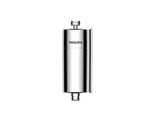 Philips AWP1775CH Inline-Duschfilter, KDF-Filtersystem gegen Rest-Chlor, Bakterien, Verunreinigungen & Kalk, Wasser-Filter für Bad und Dusche, Chrom