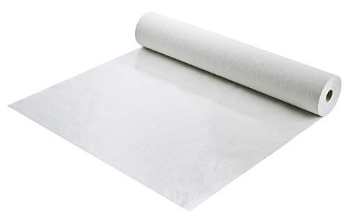 Abdeckvlies | Malervlies | selbsthaftend | Schutzvlies mit Folie, weiß | mehrfach verwendbar | 180 g/m² | Rolle 50 m²