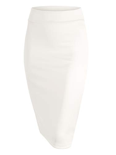 MBJ WB700 Womens Scuba Midi Skirt L White