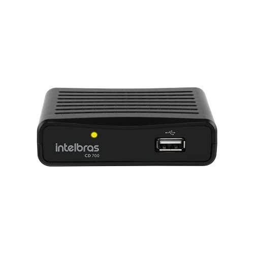 Conversor Digital de TV Intelbras com Gravador CD 700 Preto