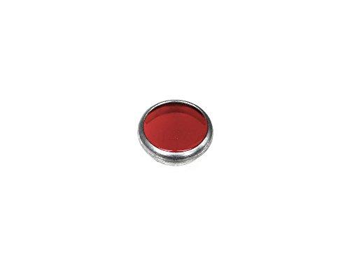 Kontrollglas Rot - PVC in Alueinfassung - für Ø16mm-Bohrung - passend für AWO, RT, BK, R35, Schwalbe KR51/1, Star, Habicht, Sperber