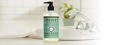Mrs. Meyer's Clean Day Liquid Hand Soap, Cruelty Free and Biodegradable Hand Wash Made with Essential Oils, Basil Scent, 12.5 oz - Pack of 3