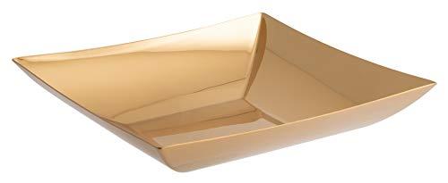 Rosenthal Sambonet 55526G24 Linea Q Edelstahl/PVD Gold Obstschale 24 x 24 cm (1 Stück)