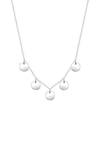 Elli Halskette Damen Kreis Geo Plättchen Minimal in 925 Sterling Silber