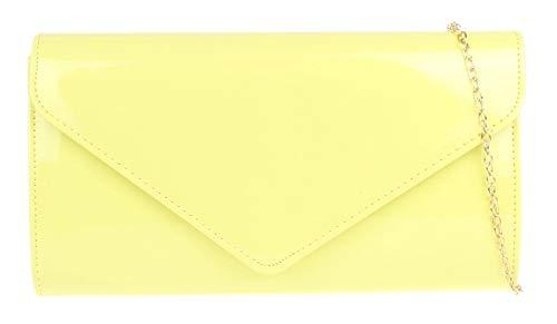 Girly Handbags Para mujer normal brillante del bolso de embrague (Limón)