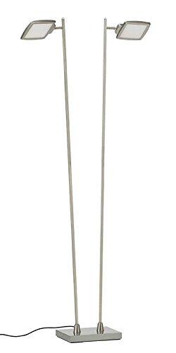 Lámpara de pie LED UNOLED, 2 focos, con regulador de intensidad de...
