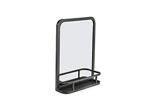 Nkuku Petite élégante Industriel Fer Miroir avec étagère