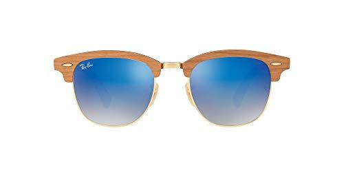 Ray-Ban Clubmaster (M) Gafas de sol, Shiny Gold, 51 para Hombre