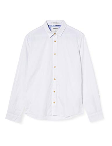 Springfield Micro Stripes Franq-c/99 Camisa Casual, Blanco (White 94762899), Large (Tamaño del fabricante: L) para Hombre