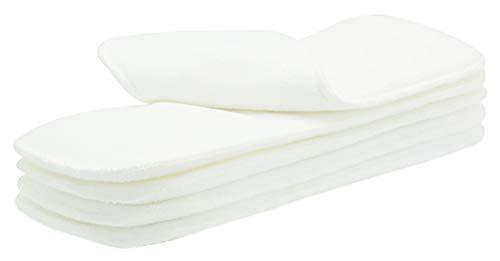 Happy Cherry 5 Stück Waschbare Baby Windel Liner Stoffwindel Einlagen Weicher Baby Windeleinlagen Wiederverwendbare 4 Schichten Bambusfrottee Weiß