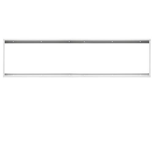 ECD Germany LED Panel Rahmen 120x30cm - aus Aluminium - Weiß - für Wand- und Deckenmontage - Deckenrahmen Montagerahmen Aufbaurahmen Gehäuse Aufputz