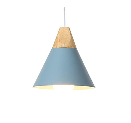 Lámpara LED Moderna Cocina Simple Cocina Luces de Techo Barra Lámpara Individual Lámpara Lámpara de Madera Nórdica Lámparas Lámparas de Sala E27 Lámpara de techo wall light (Body Color : Blue)