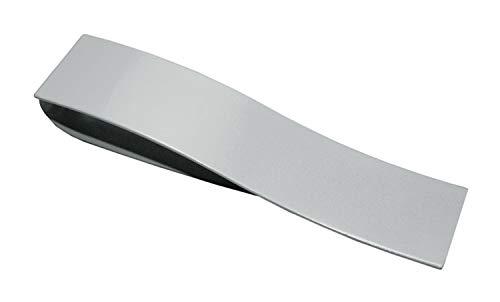 GARDINIA Raffspange Indira mit Magnetverschluss, Metall, Edelstahl-optik, 13 x 3 cm
