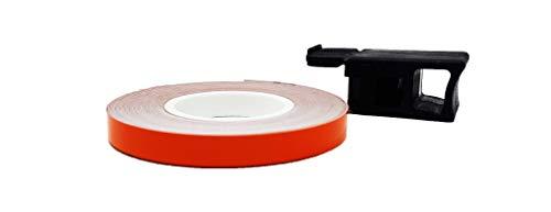 4R Quattroerre.it Quattroerre 10284 Dekorstreifen Wheel-Stripes für Motorradfelgen mit Applikator orange 7 mm x 6 m, Arancione, Mt