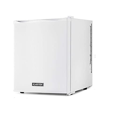 KLARSTEIN Happy Hour - Minibar, Mini Frigo per Bevande, Compressione, Temperatura di Raffreddamento: 5-15 °C, Silenziosissimo: 0 dB, Luce LED, 25 Litri, Bianco