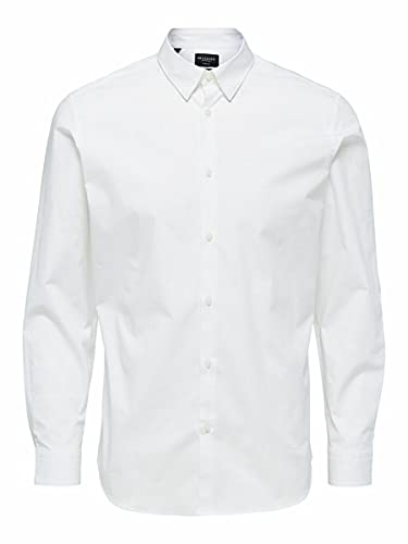 SELECTED HOMME 16073122 Camicia Business, Bianco, XL Uomo