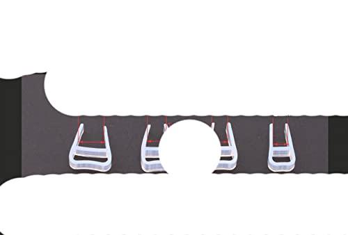 1m 6 8 10 12mm Sello de goma de ducha de vidrio Sellos de silicona Puerta corrediza Pantalla Puerta de ducha Ventana Granero Sellado de baño en forma de U, 10 mm