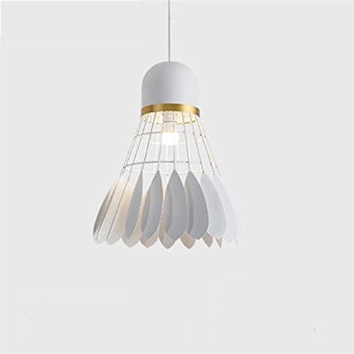 YAN FEI Accesorio de iluminación Araña de bádminton, Creativo Hierro Forjado iluminación Decorativa, Bar Tabla de la Barra de la lámpara (Color : White, Size : L)