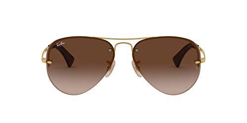 Ray-Ban Unisex RB3449 Sonnenbrille, Gold (Gestell: Gold, Gläser: Braun Verlauf 001/13), Large (Herstellergröße: 59)