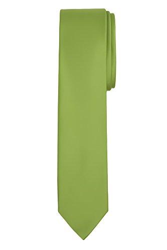 """Jacob Alexander Men's Skinny Width 2"""" Solid Color Tie - Apple Green"""