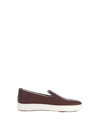 Santoni Luxury Fashion Homme MBCN20439BA6CFOSS40 Marron Cuir Chaussures De Skate | Saison Outlet