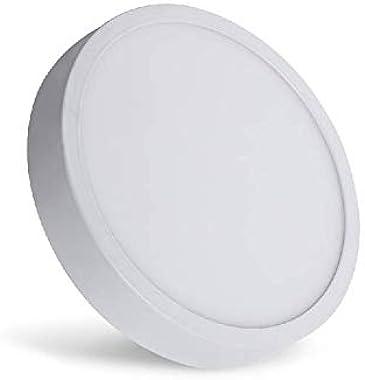 Iluminación Megamex Luminario LED/luminario para sobreponer/ PRL12F /12 W 1000 lm Luz Fría 6000 K/LÁMPARA DE TECHO