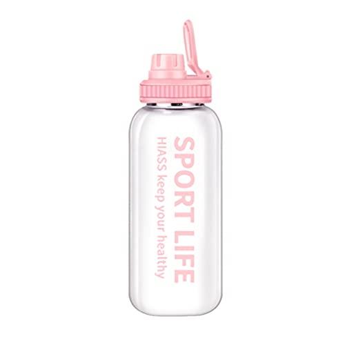 BARLEY 35.2oz / 24.6oz Botella de Agua de Cristal Botella de Agua portátil Gran Capacidad de Gran Capacidad (Color : Pink, tamaño : Large-35.2oz)
