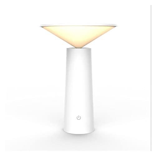 A-myt Mano de Obra Fina Interruptor táctil 3 modalidad Escritorio lámpara protección Ojo Lectura Regulable lámpara de Mesa Noche Claro De Moda (Body Color : White, Size : A)