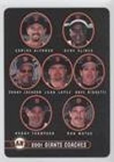 Carlos Alfonso; Gene Clines; Sonny Jackson; Juan Lopez; Dave Righetti; Robby Thompson; Ron Wotus (Baseball Card) 2001 Keebler San Francisco Giants - Stadium Giveaway [Base] #28