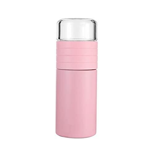 Taza, Té Y Separación De Agua Taza De Té De Doble Capa, Taza De Agua Portátil Termo Rosa