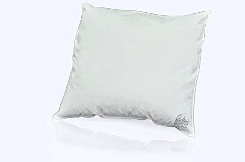 RIBECO Kopfkissen, Hülle: 100% Baumwolle, weiß, 80x80 cm