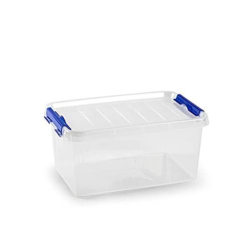 Acan Plastic Forte - Caja de ordenación de plástico, 8 litros, Nº26, 15,5 x 34 x 22,5 cm, baúl con Tapa para organización del hogar, Almacenamiento, arcón de plástico para Distintos usos