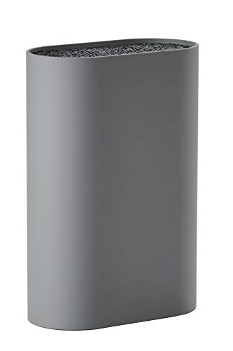 Zone messenblok voor alle messen 17 x 9 cm en 24 cm hoog grijs