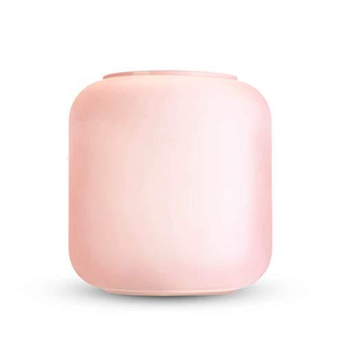 Black Velvet Studio Vaso per Fiori Vetro cilindrico Icy Pink, Elegante e Moderno, 19 cm di Altezza x 18 cm di Diametro, Bel Colore Rosa Chiaro.