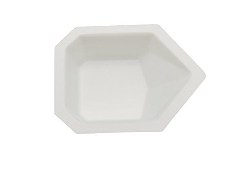 Heathrow Scientific HS1419A Pour-Boat Weighing Dish, Polystyrene, Small, 43 mm L x 58 mm W x 13 mm D, White (Pack of 500)