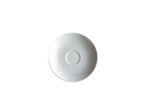 Alessi Sg53/79 Mami Soucoupe Pour Tasse à Thé en Porcelaine Blanche, Set de 6 Pièces