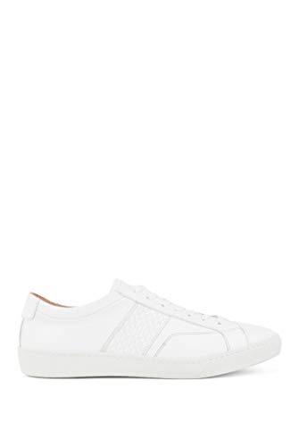 BOSS Damen Olga Low Cut-Hbco Sneakers aus italienischem Leder mit Monogramm-Detail Größe 36