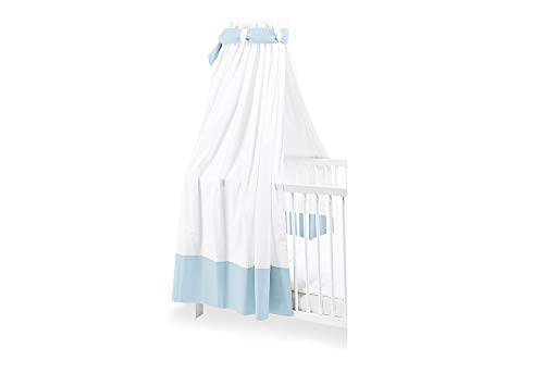 Pinolino 640890-2 Himmel für Kinderbetten, blau