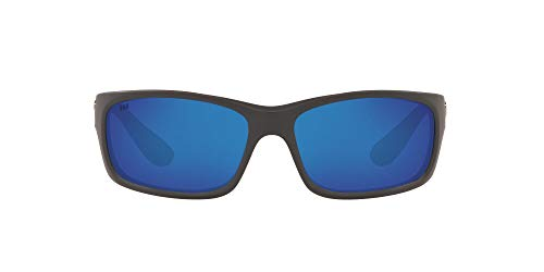 Costa Del Mar Men's Jose Sunglasses, Matte Grey/Blue Mirrored Polarized-580G, 62 mm