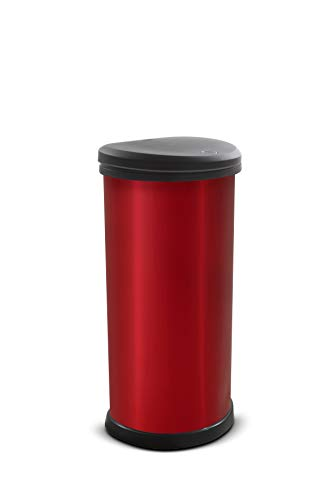 Curver 247224 - Cubo de basura (40 L), color rojo