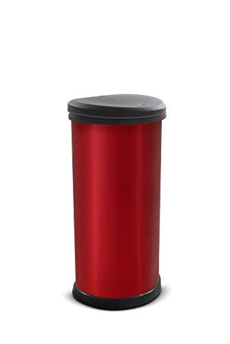 Curver Deco 40L Refuse Bin, 40 Litre, Red