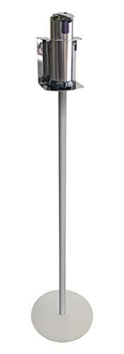 PIANTANA PORTA DISPENSER AUTOMATICO ACCIAIO INOX PER GEL IGIENIZZANTE MANI (250 ML)