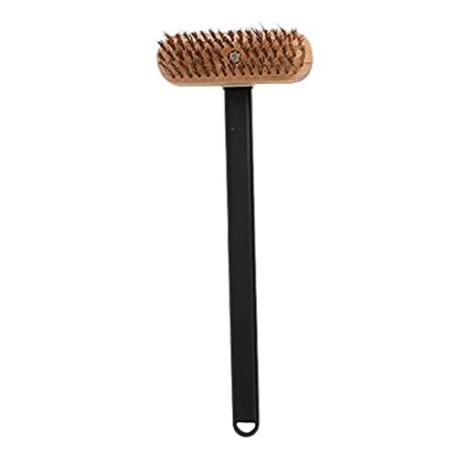 FLAMEER Cepillo para Horno para Parrilla de Panadería con Raspador Cepillo Limpiador de Cerdas para Parrilla con Mango Largo para Herramienta de Suministros D - Mango 410mm, Individual