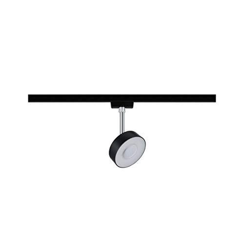 Paulmann 969.39 URail LED-Spot Circle 5W Schwarz matt/Chrom 4000K Metall/Kunststoff dimmbar