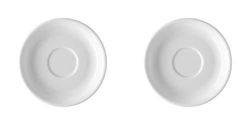 2 x Kaffee-/Tee-Untertasse 14 cm - Trend Weiß - Thomas - 11400-800001-14741 -