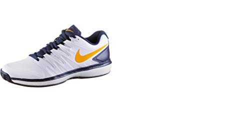 Nike Air Zoom Prestige Cly, Zapatillas de Tenis para Hombre, Blanco (White/Orange Peel/Blackened Bl 180), 39 EU