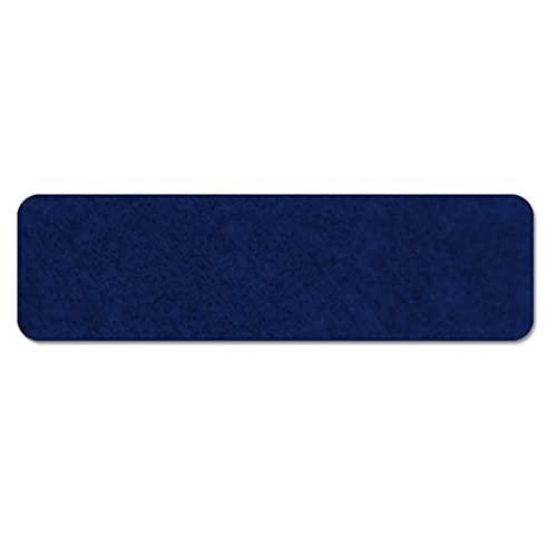 Alfombrilla de Escaleras, Antideslizante Alfombras de Escalera con Adhesivo Reutilizable, Autoadhesivas Peldaños de Escalera Fácil de Encajar para Niños, Ancianos y Perros, rojo(Color:Dark blue,Siz