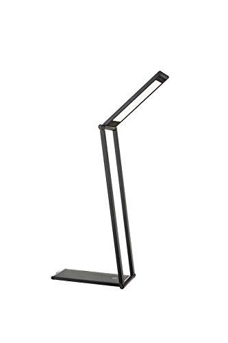LED bureaulamp met touchdimmer USB-oplaadkabel leeslamp batterij (bureaulamp, nachtkastlampje, bedlampje, nachtkastlampje, aluminium, grijs)