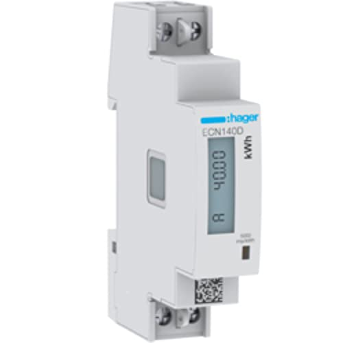Hager Energiezähler 1phasig ECN140D direkt 40A, 1M Elektrizitätszähler 3250612231355
